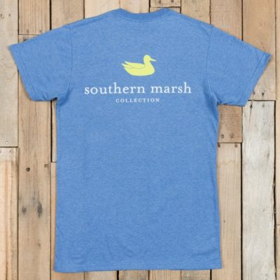 Southern Marsh S/S Authentic Tee Heather, Washed Oxford Blue