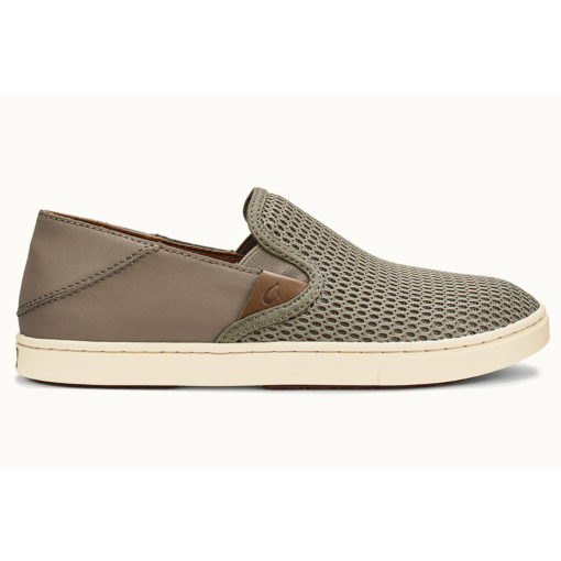 Olukai Pehuea Leather and Mesh Sneaker, Clay/Clay