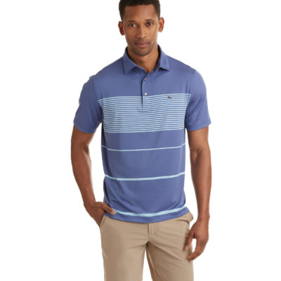 Vineyard Vines, Brennan Engineer Stripe Sankaty Performance Polo, Regatta Bay