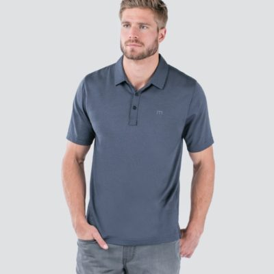 Travis Mathew Zinna Polo, Vintage Indigo/ Black