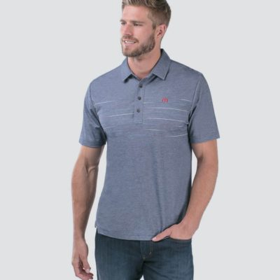 Travis Mathew Good Good Polo, Heather Blue