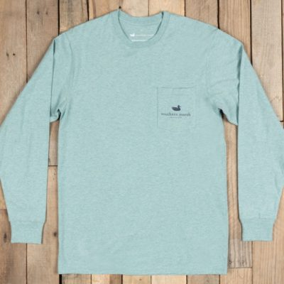 Southern Marsh Branding Tee - Compass, Washed Moss Blue