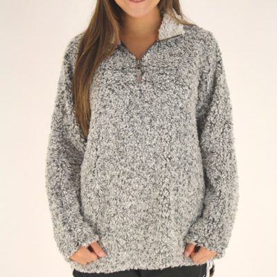 Dylan Frosty Tipped Pullover, Charcoal