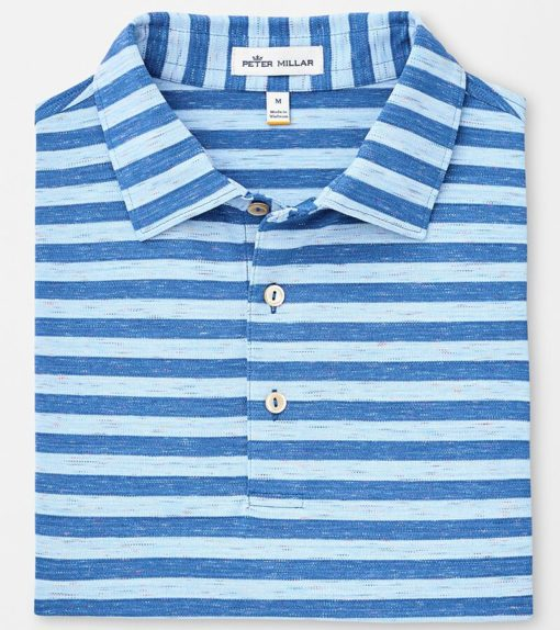 Peter Millar All the Way Donegal Stripe Polo, Plaza Blue